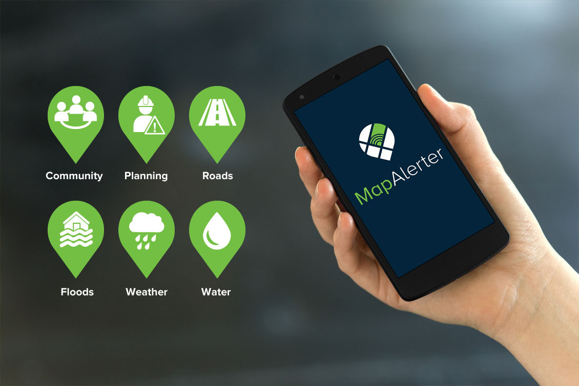 MapAlerter for local authority alerts